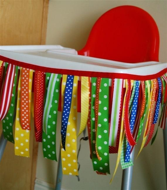 Bright Ribbon High Chair Banner