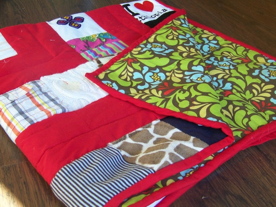 20x20 Lovey Size Baby Clothes Quilt-smaller than quilt pictured