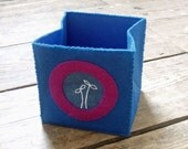 Foldable fabric box - ultramarine