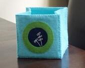 foldable fabric box - turquoise2