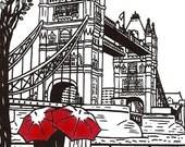 London Love gocco art print