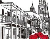 New Orleans Love gocco art print