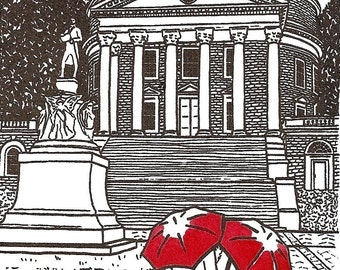 University of Virginia Love gocco art print