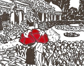 Richmond Love gocco art print