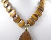Lentil Tiger-eye Necklace