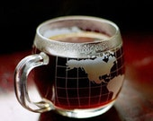 Nescafe Vintage Nestle Coffee World Globe Map Cup / Mug nice condition