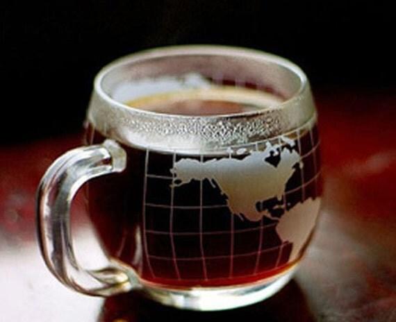 Nescafe Vintage Nestle Coffee World Globe Map Cup / Mug nice