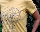 Spinning Wheel T-Shirt - Organic Cotton - Dijon - Grey