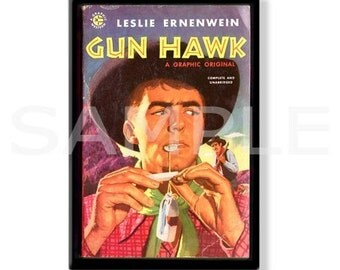 GUN HAWK  - Pulp Fridge Magnet