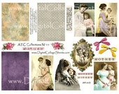 Instant Download Mothers Day Collage Sheet  ATC Collection Mother and Child Images DCS-472 DigitalCollageSheets, Printables, Downloads