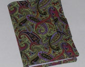 Fabric Notebook Organizer with magnetic snap closure(Fits 4 X 6 Notepad)