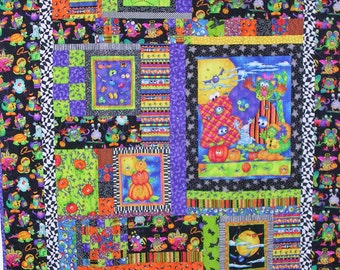 Bright Halloween Collage Lap/Wall Quilt