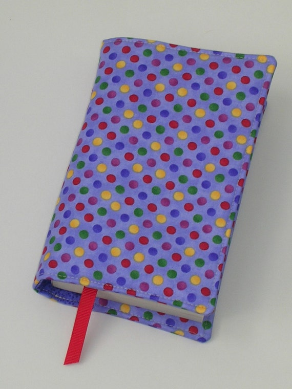 SALE 20% off Fabric Book Cover (for mass market paperback books) with ribbon bookmark