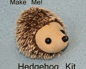 Hedgehog Kit    gelled mohair  Ultrasuede  woodland  DIY  Baby Version