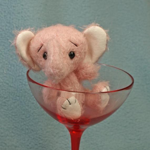 Belle  pink mohair elephant anime style  Artist Friends team