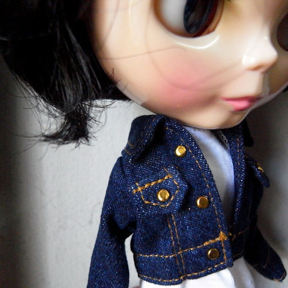 Blythe jeans jacket  (dark blue)