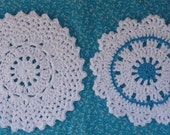 Doily Dishcloth Crochet PATTERN Set - INSTANT DOWNLOAD