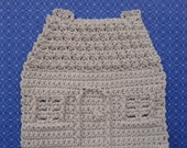 House Dishcloth - Crochet PATTERN - INSTANT DOWNLOAD