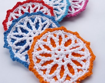 Starburst Coaster Crochet PATTERN - INSTANT DOWNLOAD