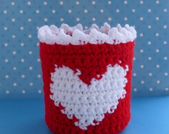 Heart Basket Crochet PATTERN - INSTANT DOWNLOAD