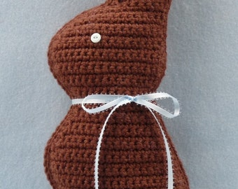 Chocolate Easter Bunny Crochet PATTERN - INSTANT DOWNLOAD