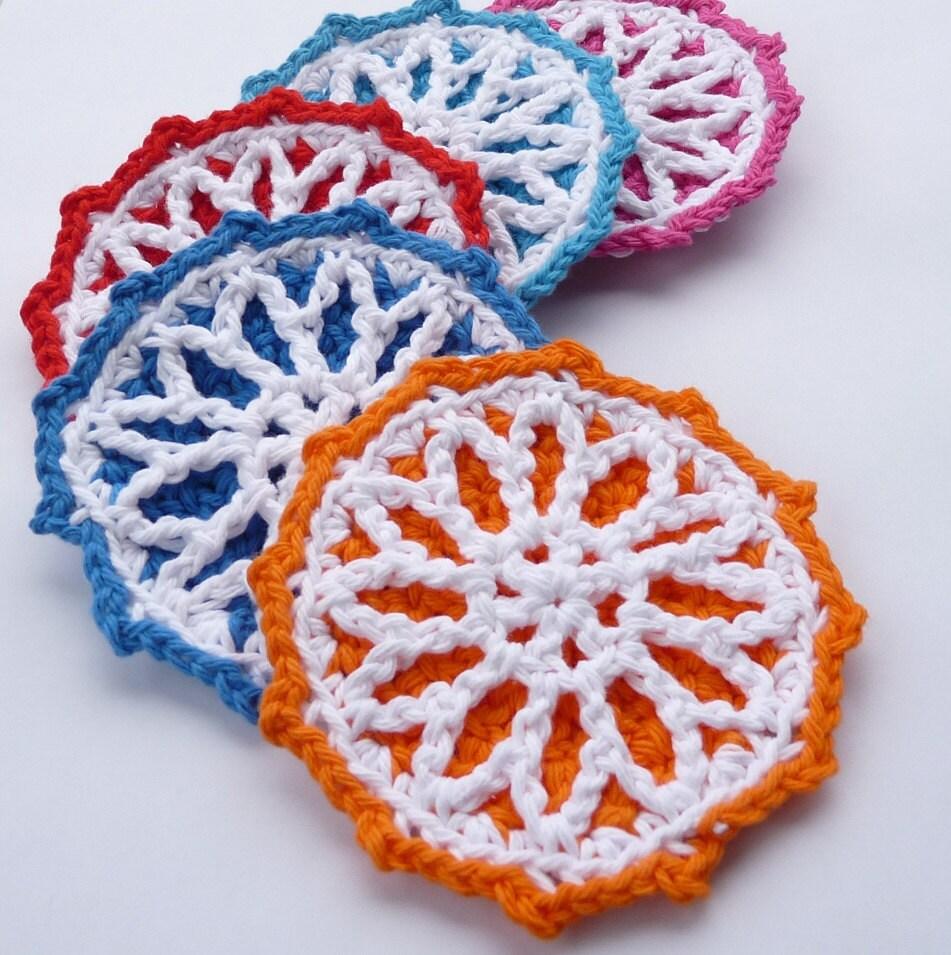 Starburst Coaster Crochet PATTERN INSTANT DOWNLOAD