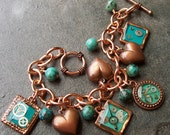 Copper Turquoise Resin Bracelet