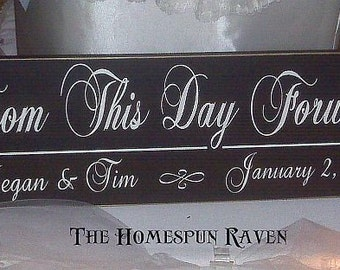 CUSTOM Wood Handpainted Wedding Sign Gift DESIGN your OWN Primitive Plaque
