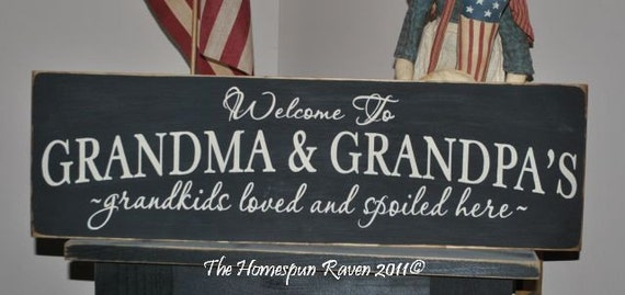 Welcome To Grandma And Grandpa S Primitive Handpainted