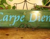 Carpe Diem Wood Plaque