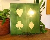 Card Suits Wood Plaque