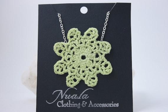 Crochet Necklace Sweet Light Green