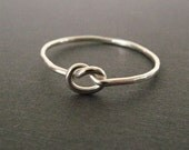 Forget Me Knot - handcrafted eco-friendly fine silver knot ring