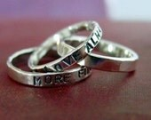 2mm Sterling Silver Sentiment Ring - Any Text, Any Size