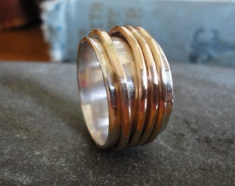 Four Gold Spinner Ring - ANY SIZE - Creative Mode