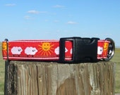 Dog Collar with RED Sheep Herding Theme