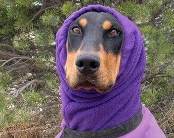 Polar Fleece Snood for Large Dog - Dobersnood - PURPLE - Dog Snood - Snood