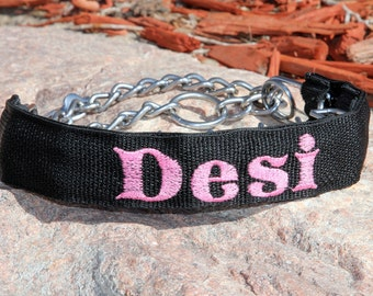 Personalized Prong Collar Cover - made to fit over prong collar - personalized with your dog's name
