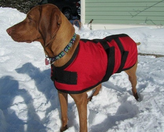 Warm Winter Dog Coat Size 24 Red Waterproof Warm Durable