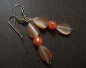 Fiesta Orange Beaded earrings