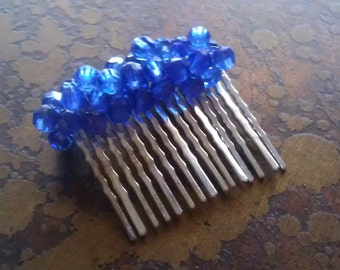 Oceania Cobalt Blue Wired Hair Comb
