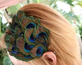 Peacock Feathered Headband/Fascinator