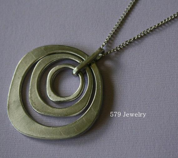 Silver Circular Necklace