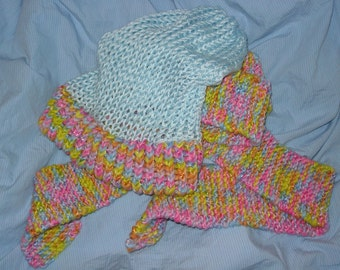 super happy scarf and beanie hat set