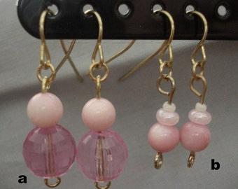 you choose: pink earrings