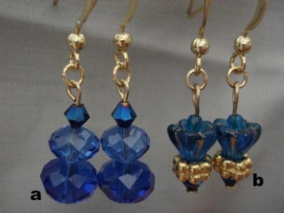 you choose: blue earrings