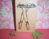 Rubber Romance UNMOUNTED Stamp - At the Ballet