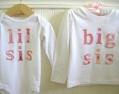 Pick 2 - Lil/Big Sis and Lil/Big bro Combo - Any Size -  by Green Apple Boutique