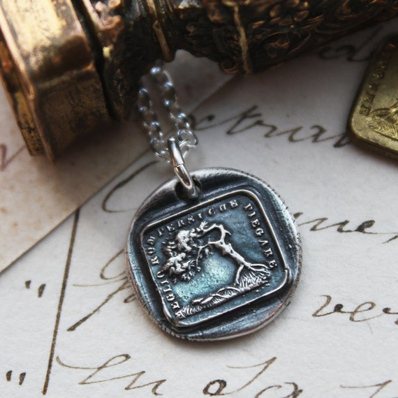 Better To Bend Than To Break wax seal necklace - the Oak and the Reed  aesop fable wax seal jewelry in fine silver