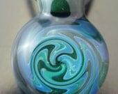 Brilliant Blues and Aqua Borosilicate Glass Pendant